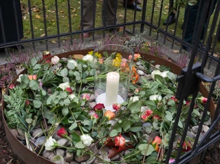 Die Gedenksteine an ihrem neuen Ort